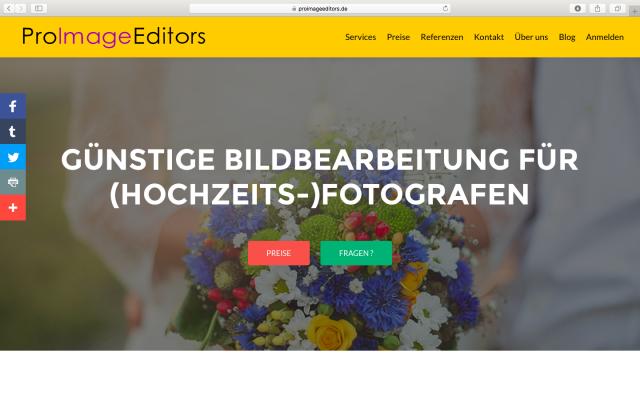 ProImageEditors.de Webseite