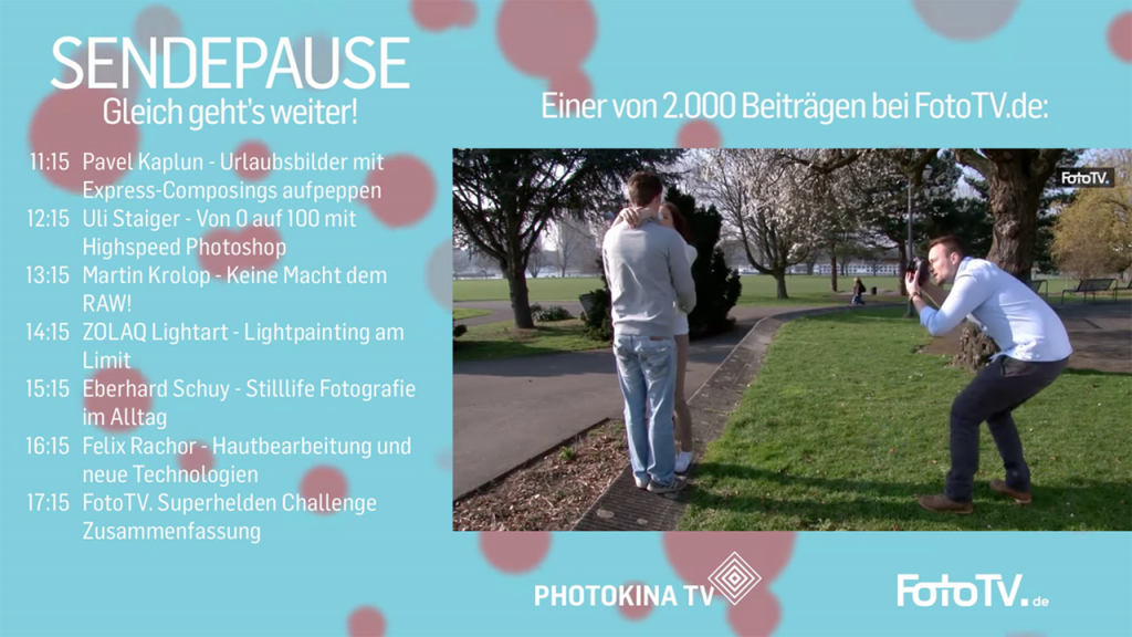 PHOTOKINA TV Sendepause