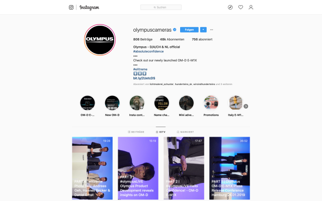 Olympus OM-D E-M1X Livestream YouTube und Instagram 11