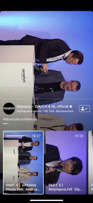 Olympus OM-D E-M1X Livestream YouTube und Instagram 3
